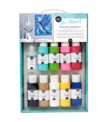 American Crafts Color Pour Pre-Mixed Starter Kit