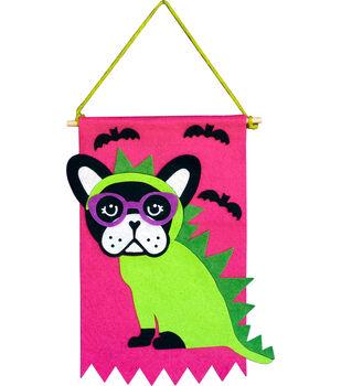 Little Makers Halloween Banner-Dino Dog