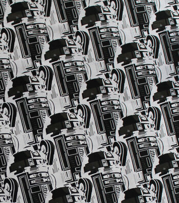 """Star Wars Cotton Fabric 44""""-R2D2 New Hope"""