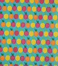 Doodles Juvenile Apparel Fabric -Multi Pineapple Pucker