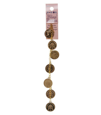 Bliss Beads Gold Tone Coins