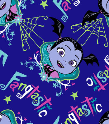 Disney Junior Vampirina Fleece Fabric 59''-Fangtastic