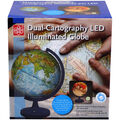 11-Inch Dual-Cartography LED Illuminated Globe
