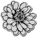 Stampendous Cling Rubber Stamp Zinnia