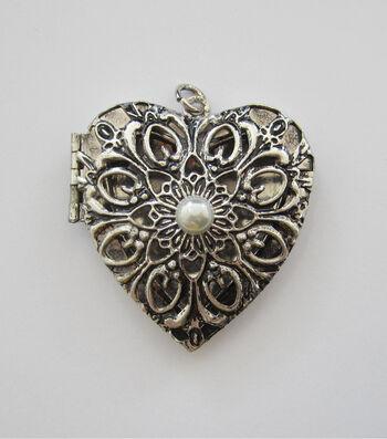 hildie & jo Ornamental Heart Locket Metal Pendant