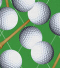 Novelty Cotton Fabric-Classic Golf Balls