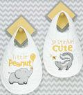 Stinkin\u0027 Cute Bib Pair Stamped Cross Stitch Kit Set Of 2