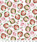 Holiday Cotton Fabric 44\u0022-Elf on The Shelf