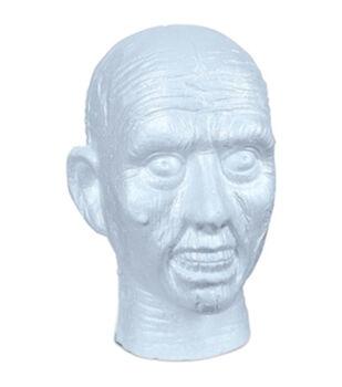 Styrofoam Zombie EPS Skull Bulk-White