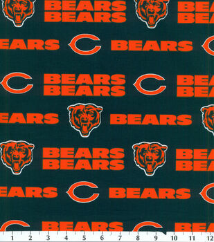Chicago Bears Cotton Fabric -Mascot Logo