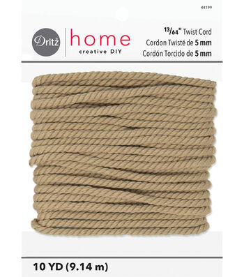 Polyester Cord 5Mm X 10Yds Natural