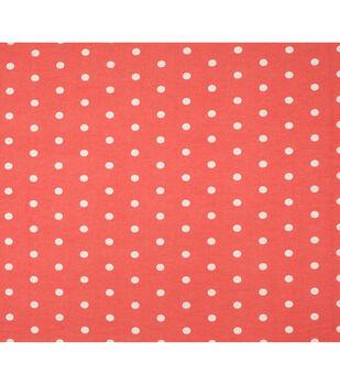 Super Snuggle Flannel Fabric-Dots On Peach