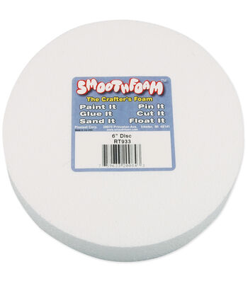 "Smooth Foam Disc 6""x1"" 1/Pkg-White"