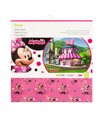 Cricut 6 pk 12''x12'' Disney Minnie Mouse Together We Rock Deluxe Papers