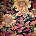 Harvest Cotton Fabric-Sunflowers with Berries Mums