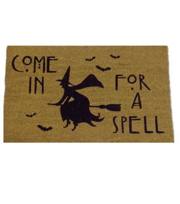 Maker's Halloween Coir Mat-Come in for a Spell