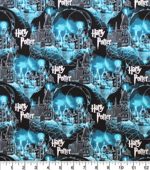 Harry Potter Cotton Fabric-Hogwarts & Moon