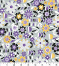 Quilter\u0027s Showcase Cotton Fabric -Bold Flowers on Gray