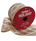 Maker\u0027s Holiday Christmas Sheer Ribbon 2.5\u0027\u0027x25\u0027-Glitter Abstract