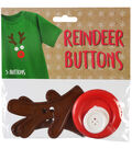 Reindeer Button Kit With 5 Buttons