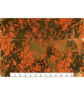 Keepsake Calico Cotton Fabric 43\u0027\u0027-Orange & Metallic Crackle
