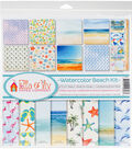 Ella & Viv Collection Kit 12\u0022X12\u0022-Watercolor Beach