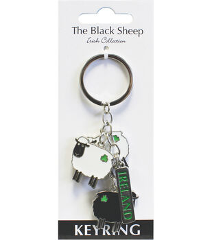 Shamrock Gift Company Irish The Black Sheep 4'' Charm Keyring