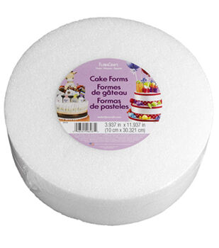 4X12In Foam Cake Form Wht