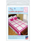 Jack Demspey Needle Art 18\u0027\u0027x18\u0027\u0027 Stamped Sampler Quilt Blocks-Hearts