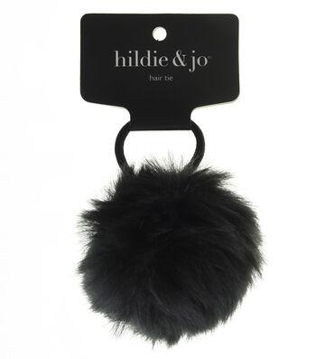 hildie & jo Pom Hair Tie-Black