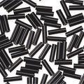 Glass Bugle Beads-Opaque Black, 1/4 inch long.