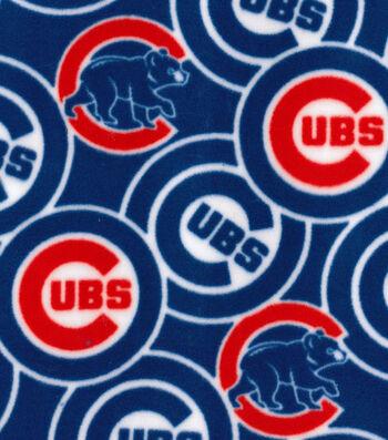 """Chicago Cubs Fleece Fabric 58""""-Logo"""
