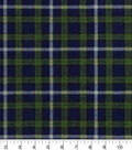 Snuggle Flannel Fabric -Black Watch Multicolor Plaid