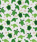 Snuggle Flannel Fabric-Happy Turtle