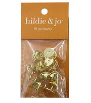 hildie & jo 10 Pack Gold Pin Backs, , hi-res