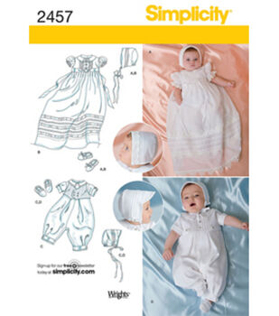 Simplicity Pattern 2457A Xxs-Xs-S-M-Simplicity Babies