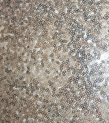 All Over Sequin Fabric-Champagne