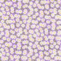 Keepsake Calico Cotton Fabric-Packed Daisies on Light Purple