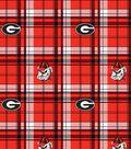 University of Georgia Bulldogs Fleece Fabric 60\u0022-Plaid