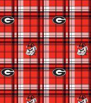 "University of Georgia Bulldogs Fleece Fabric 60""-Plaid, , hi-res"