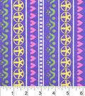 Snuggle Flannel Fabric -Flower Heart Stripe