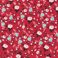 Keepsake Calico Cotton Fabric-Packed Floral on Red