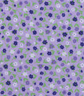 Snuggle Flannel Fabric -Purple Blue Ditsy Floral