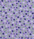 Snuggle Flannel Fabric 42\u0022-Purple Blue Ditsy Floral