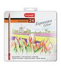 Bruynzeel Expression Colour Pencil Set W/Tin 24/Pkg
