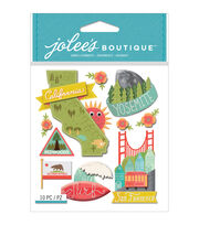 Jolee's Boutique 10 Pack Dimensional Stickers-California, , hi-res