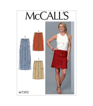 bc1325a136a McCall s Pattern M7392 Misses  Straight Scalloped-Hem Skirts-Size 14-22
