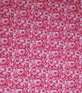 Keepsake Calico Cotton Fabric-Pink Glitter Packed Flowers