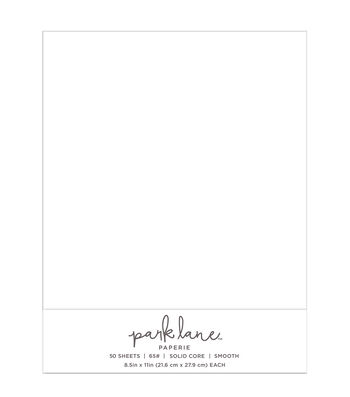 Park Lane 50 pk 8.5''x11'' Value Papers-White