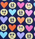 Blizzard Fleece Fabric-I Love Emoticons